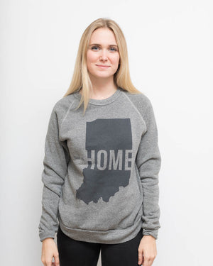 This Is Home Crewneck Sweatshirt - United State of Indiana: Indiana-Made T-Shirts and Gifts