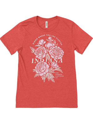 IN Bloom Unisex Tee - United State of Indiana: Indiana-Made T-Shirts and Gifts
