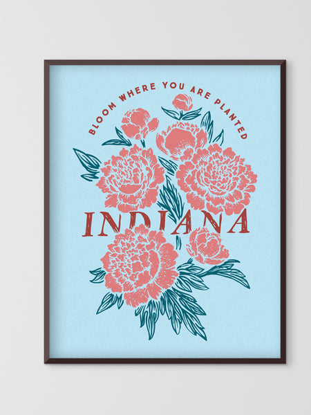 IN Bloom Poster -  from United State of Indiana