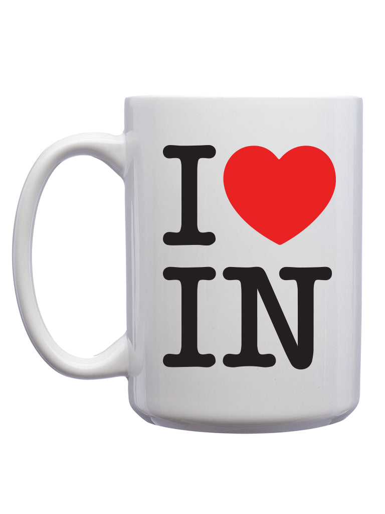 I Heart IN Mug - United State of Indiana: Indiana-Made T-Shirts and Gifts