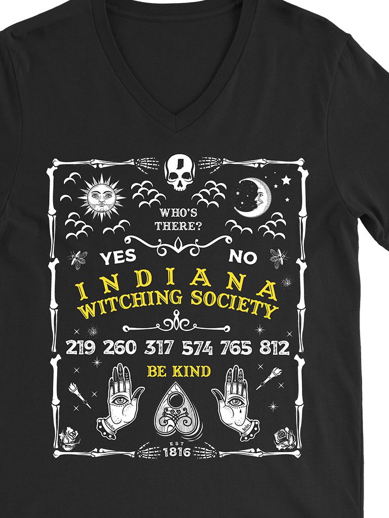 Indiana Ouija Board Unisex V-Neck