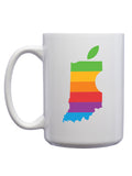 Indiana Apple Mug - United State of Indiana: Indiana-Made T-Shirts and Gifts