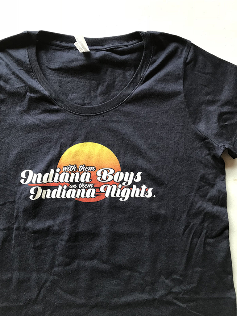 Indiana Boys, Indiana Nights Women's Curvy Tee - United State of Indiana: Indiana-Made T-Shirts and Gifts
