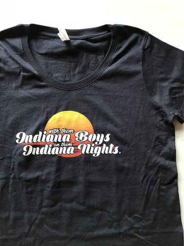 Indiana Boys, Indiana Nights Women's Curvy Tee