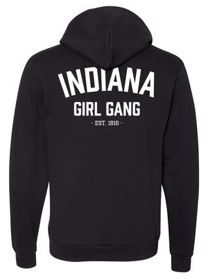 Indiana Girl Gang Zip-Up Hoodie