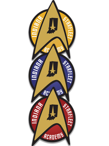 Indiana Starfleet Academy Sticker - United State of Indiana: Indiana-Made T-Shirts and Gifts