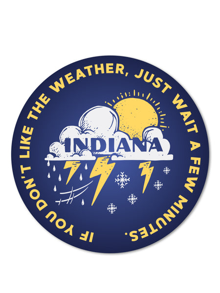 Indiana Weather Sticker - United State of Indiana: Indiana-Made T-Shirts and Gifts