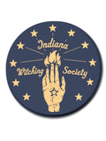 Indiana Witching Society Sticker - United State of Indiana: Indiana-Made T-Shirts and Gifts