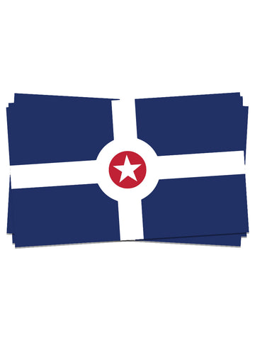 Indy Flag Sticker - United State of Indiana: Indiana-Made T-Shirts and Gifts