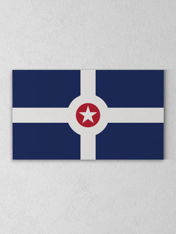 Indy Flag Canvas -  from United State of Indiana