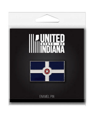 Indianapolis Flag Enamel Pin