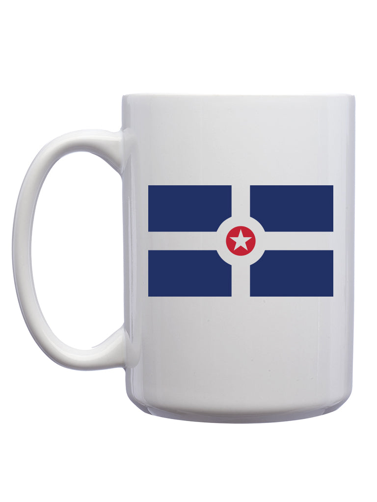 Indy Flag Mug - United State of Indiana: Indiana-Made T-Shirts and Gifts