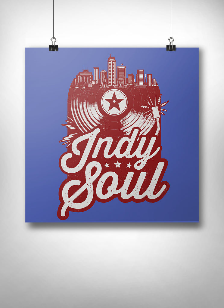 Indy Soul Poster - United State of Indiana: Indiana-Made T-Shirts and Gifts