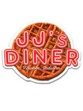 J.J.'s Diner Sticker - United State of Indiana: Indiana-Made T-Shirts and Gifts