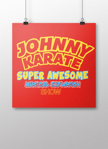 Johnny Karate Poster - United State of Indiana: Indiana-Made T-Shirts and Gifts