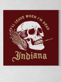 "Leave When I'm Dead Canvas - Red / 12 x 12"" from United State of Indiana  - 4"