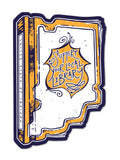 Library Book Sticker - United State of Indiana: Indiana-Made T-Shirts and Gifts