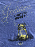 Light of the Midwest Women's Tee - United State of Indiana: Indiana-Made T-Shirts and Gifts