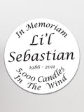 Lil' Sebastian Memorial Sticker