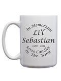 Li'l Sebastian in Memoriam Mug - United State of Indiana: Indiana-Made T-Shirts and Gifts