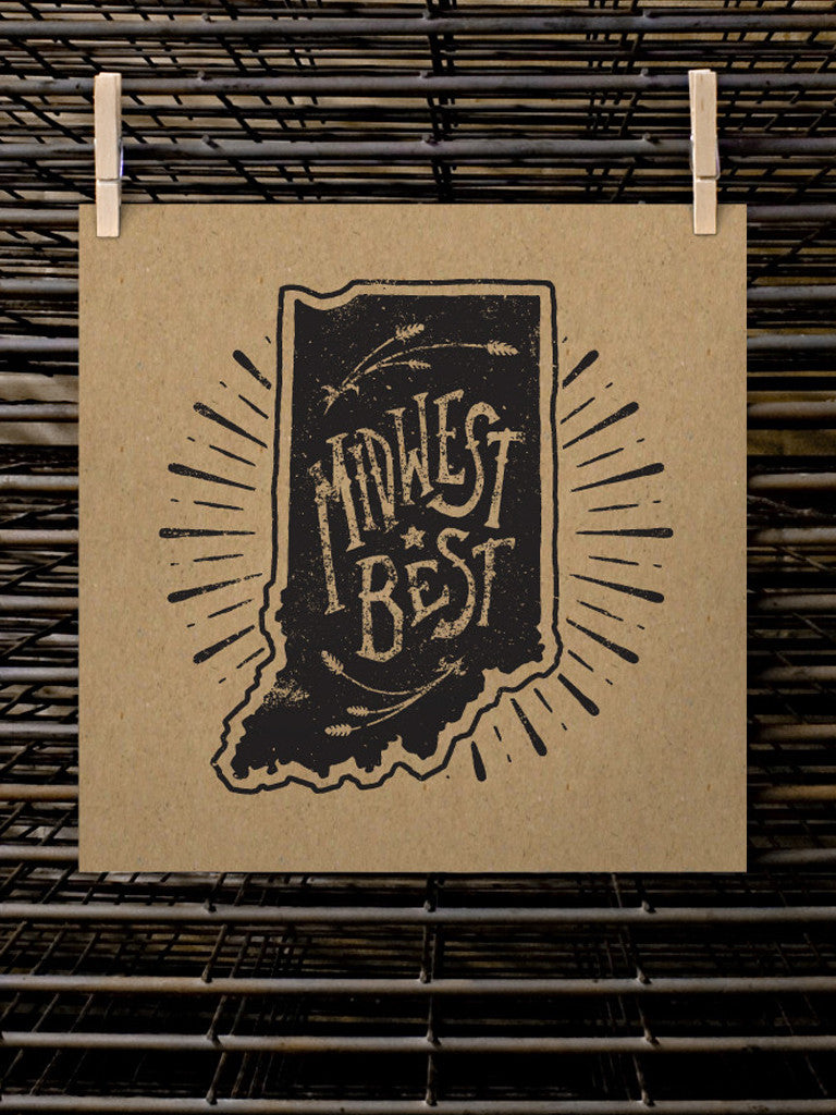 Midwest Best Poster - United State of Indiana: Indiana-Made T-Shirts and Gifts