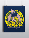 Indiana Mole Women Poster - United State of Indiana: Indiana-Made T-Shirts and Gifts