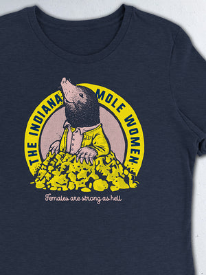 Indiana Mole Women Women's Tee - United State of Indiana: Indiana-Made T-Shirts and Gifts