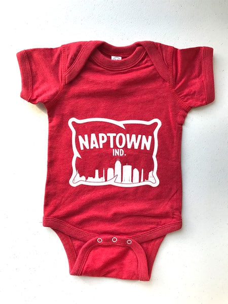 Naptown Onesie - United State of Indiana: Indiana-Made T-Shirts and Gifts