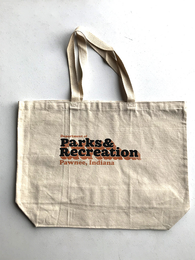 Pawnee Parks Dept. Tote Bag - United State of Indiana: Indiana-Made T-Shirts and Gifts