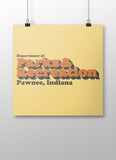 Pawnee Parks Department Poster - United State of Indiana: Indiana-Made T-Shirts and Gifts