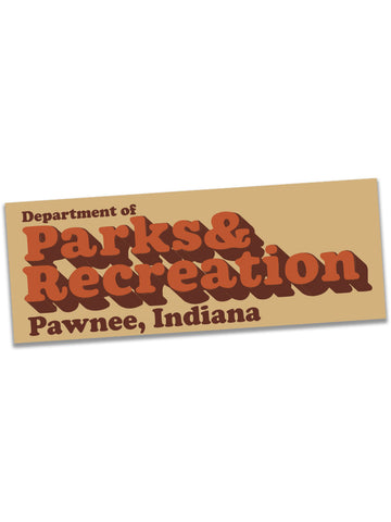 Parks Department Sticker