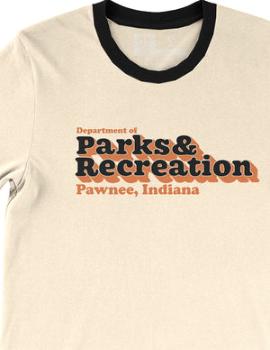 Parks and Recreation Department Unisex Ringer Tee - United State of Indiana: Indiana-Made T-Shirts and Gifts