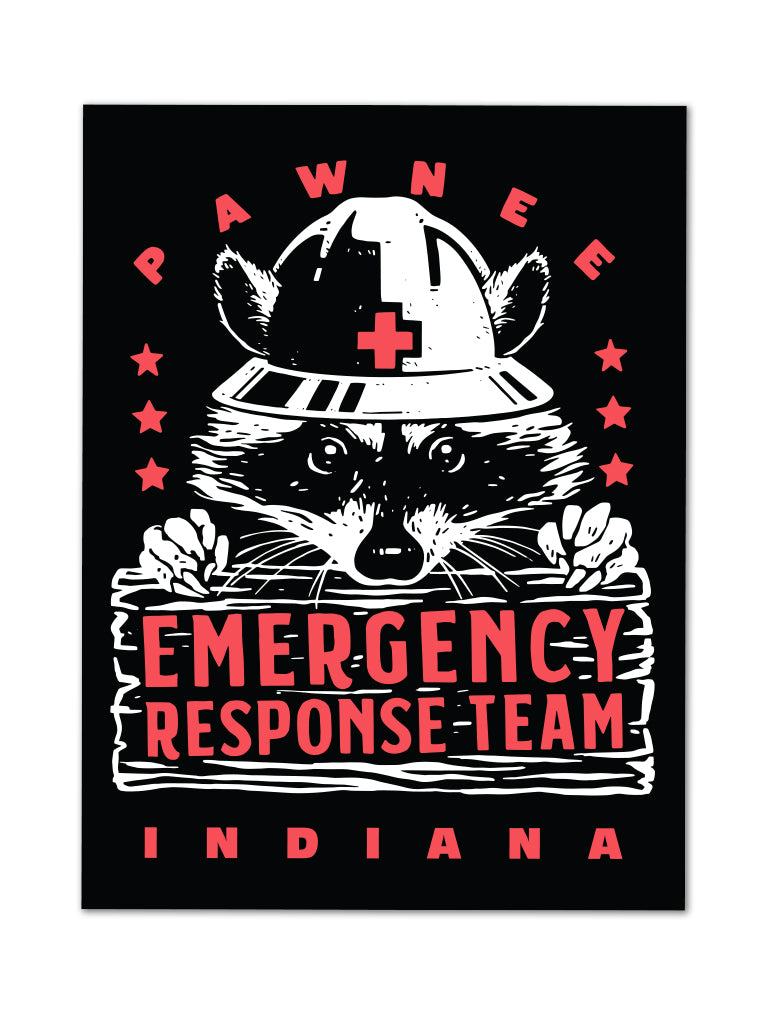 Pawnee Emergency Response Team Sticker - United State of Indiana: Indiana-Made T-Shirts and Gifts