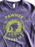 Pawnee Goddesses Crewneck Sweatshirt - United State of Indiana: Indiana-Made T-Shirts and Gifts