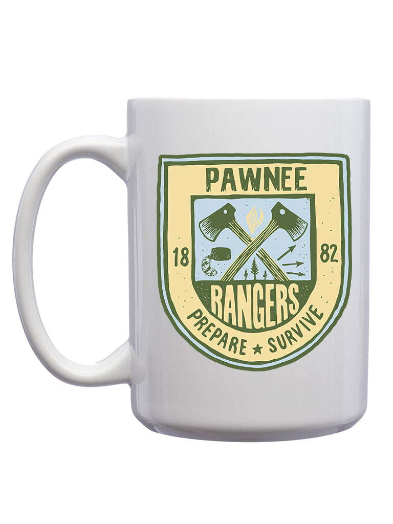 Pawnee Rangers Mug - United State of Indiana: Indiana-Made T-Shirts and Gifts