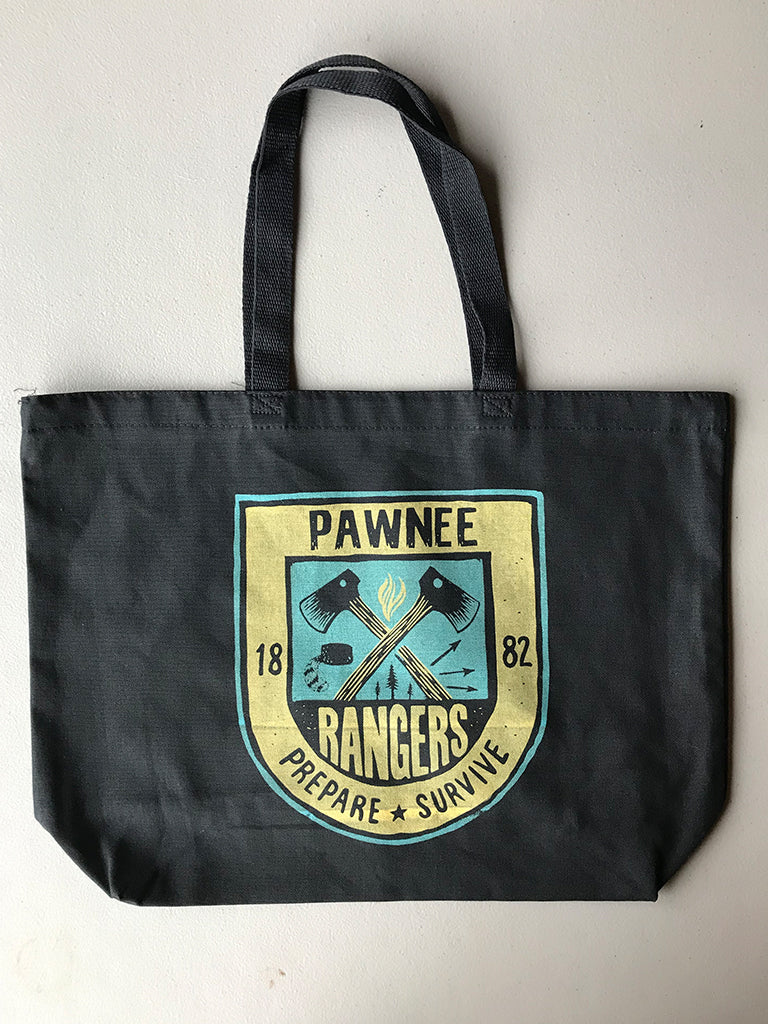 Pawnee Rangers Tote Bag - United State of Indiana: Indiana-Made T-Shirts and Gifts