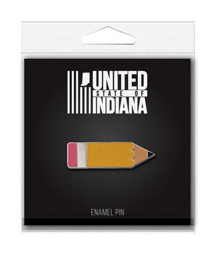 Pencil Enamel Pin - United State of Indiana: Indiana-Made T-Shirts and Gifts
