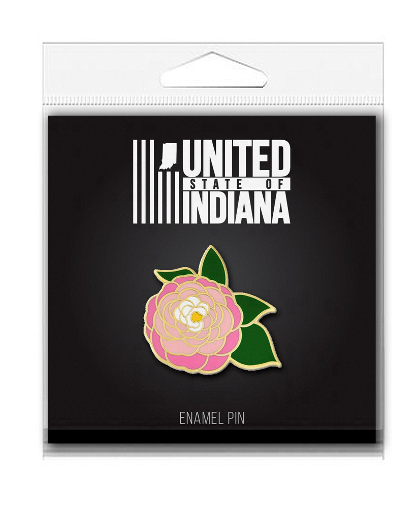 Peony Enamel Pin - United State of Indiana: Indiana-Made T-Shirts and Gifts