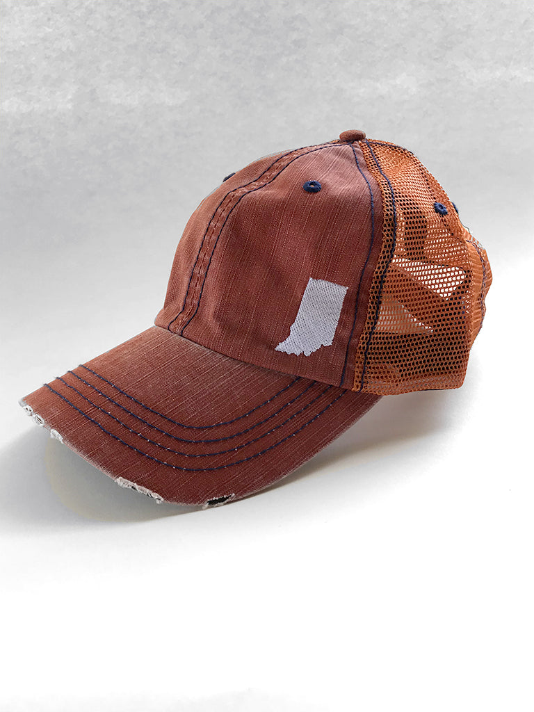 Indiana Vintage Mesh Trucker Cap - United State of Indiana: Indiana-Made T-Shirts and Gifts