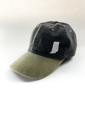 Indiana Two-Tone Dad Cap - United State of Indiana: Indiana-Made T-Shirts and Gifts