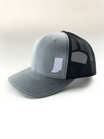 Indiana Two-Tone Mesh Trucker Cap - United State of Indiana: Indiana-Made T-Shirts and Gifts