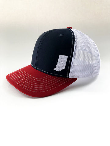 Indiana Tri-Tone Mesh Trucker Cap - United State of Indiana: Indiana-Made T-Shirts and Gifts
