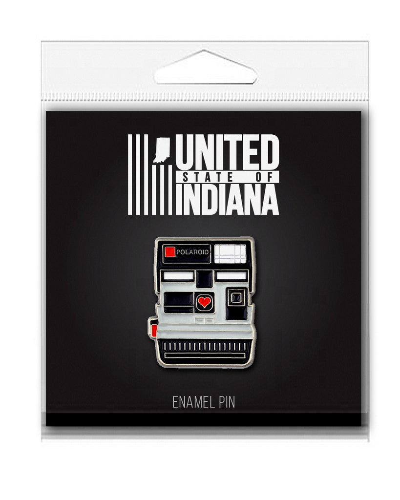 Polaroid Enamel Pin - United State of Indiana: Indiana-Made T-Shirts and Gifts
