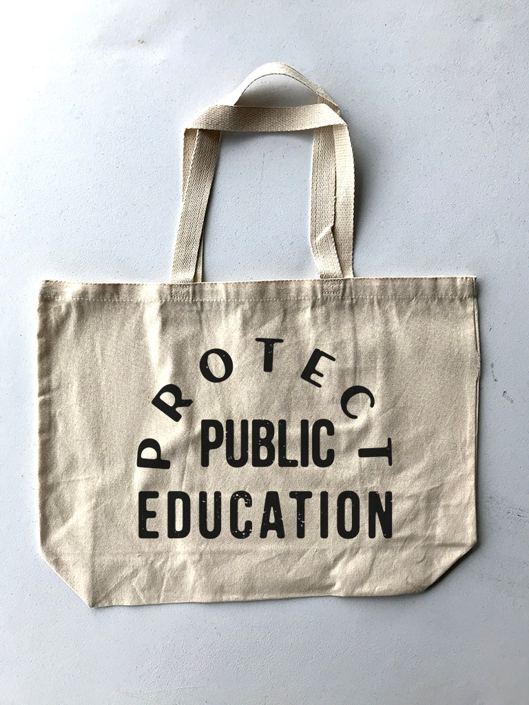 Protect Public Education Tote Bag - United State of Indiana: Indiana-Made T-Shirts and Gifts