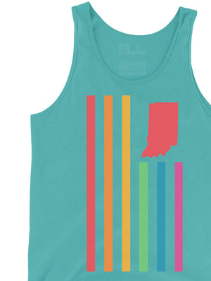 Rainbow USI Flag Tank