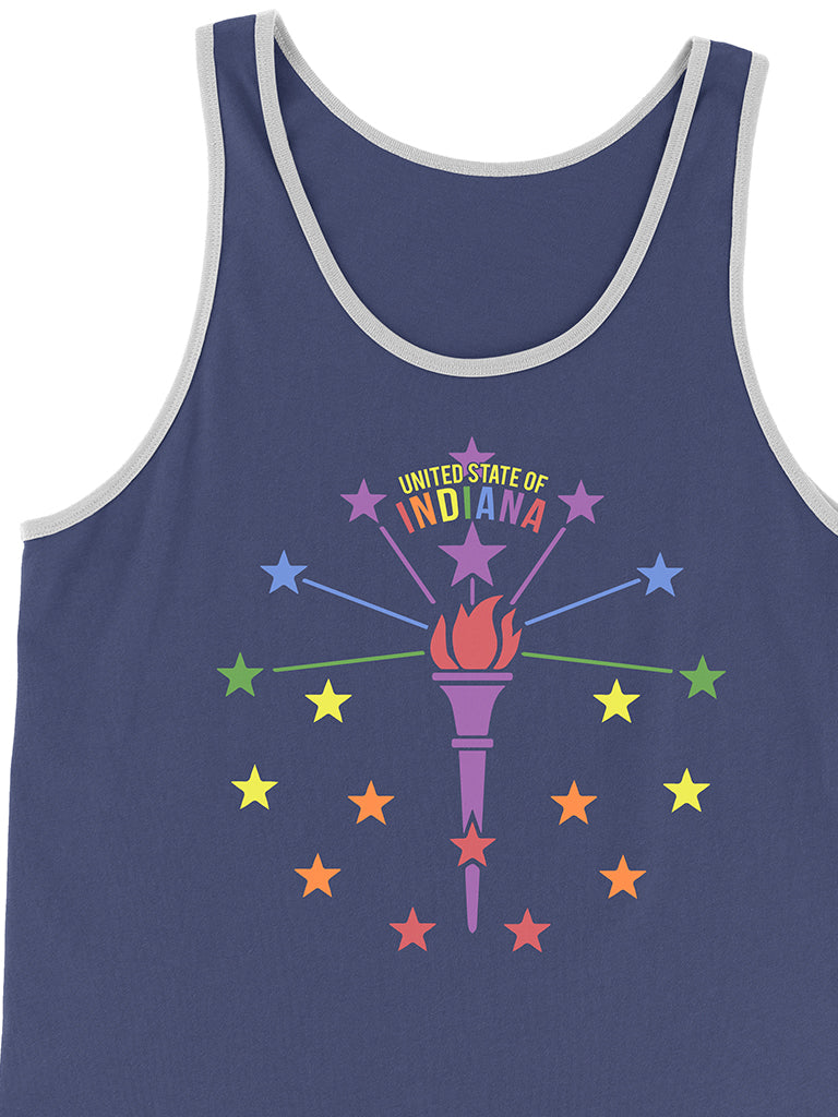 Rainbow Torch and Stars Tank
