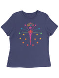 Rainbow Torch and Stars Women's Tee