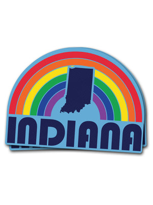 Rainbow State PRIDE Sticker - United State of Indiana: Indiana-Made T-Shirts and Gifts