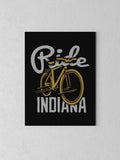 "Ride Indiana Canvas - Black / 18 x 24"" from United State of Indiana  - 2"