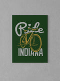 "Ride Indiana Canvas - Green / 18 x 24"" from United State of Indiana  - 3"